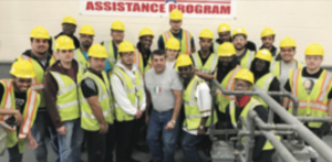 The Utility Workers Military Assistance Program continues to meet with great success training veterans for jobs. Pictured here is Chicago UMAP Cohort 13 with instructor Dino DiDomenico