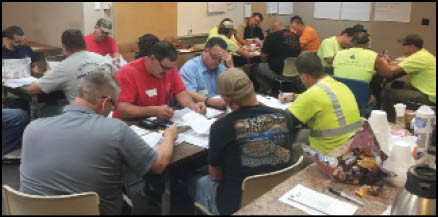 Members from American Water in Peoria, IL, top, and Champaign, IL, bottom, are the first water workers to receive training through Power for America, thanks to the OSHA Susan Harwood grant.