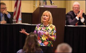 Susan Story, president & chief executive officer, American Water, participated in the Region IV Conference. American Water is working with the UWUA's Power for America to train the next generation of water workers.