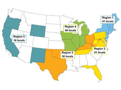 Ibew Illinois Map.Regions Uwua