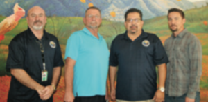 Larry Hutchinson, president, Local 522; Robin Downs, president, Local 483; Javier A. Salas, president, Local 132; Paul Carriera, vice president, Local 483
