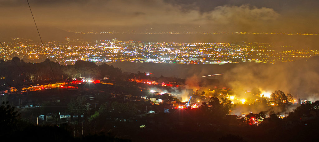 San Bruno fire, Photo Credit: Andrew Oh, Creative Commons 3.0 License