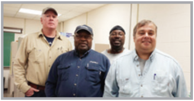 UWUA's newest members, Local 118 Youngstown Collectors, left to right: Jim Seivert, Randy Floyd, Arthur Sims, and Charles Shall.