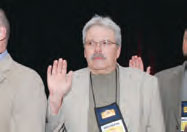 Bob Fronek being sworn in to the National Executive Board in 2007.