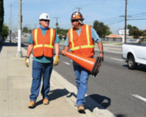 UMAP-CA trainee Howard Drake, left, with Local 483 mentor Ed Delano.